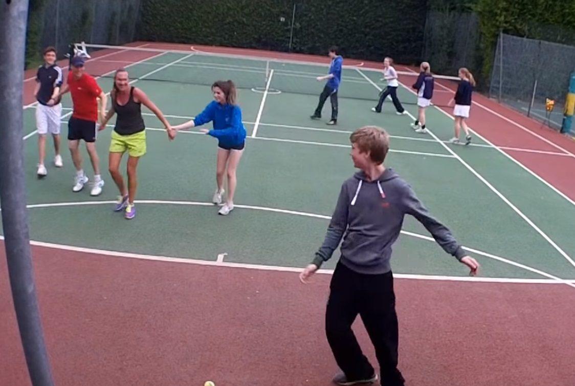 tennis warm ups